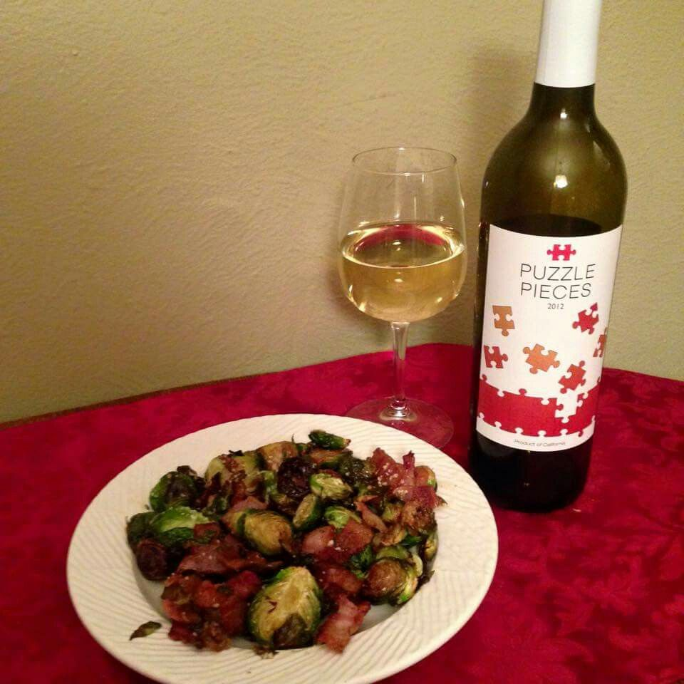 Caramelized Brussel Sprouts Pairs Amazingly Well With This White Blend Wine It S A Must Try Food Pairings Tasting Business Www Food Brussel Sprouts
