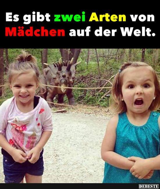 Es gibt zwei Arten von Mädchen auf der Welt.. | Witzige ...