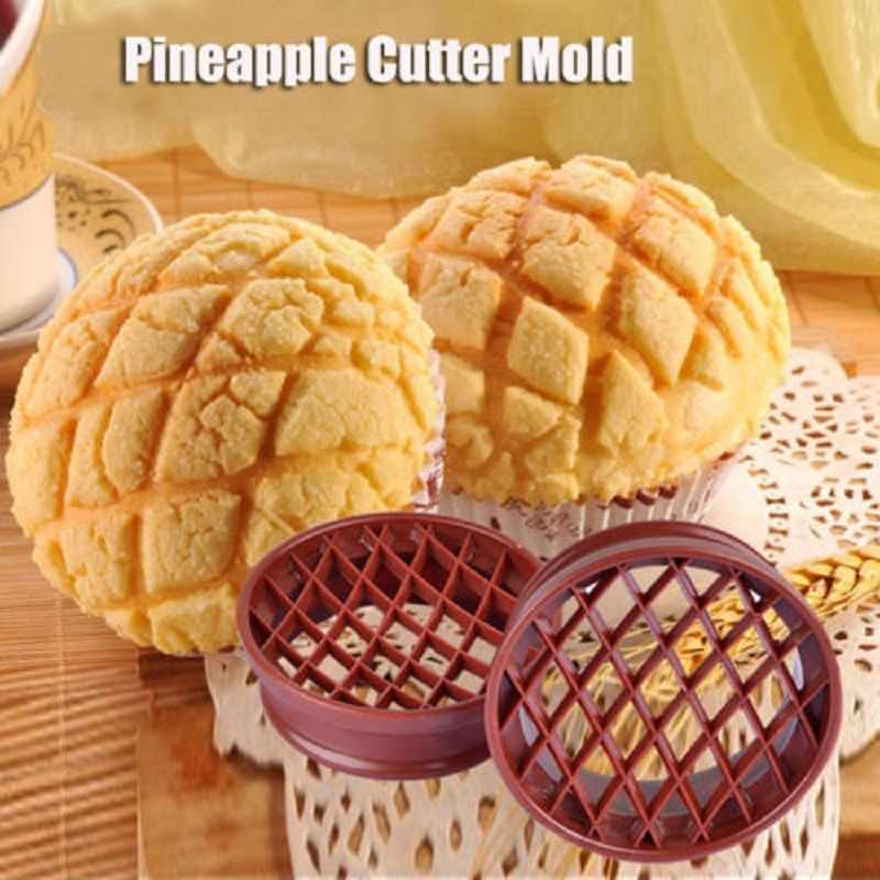 Pineapple Cutter Plastic Bread Mold Biscuit Stamp Mould Pastry Baking Supply CO