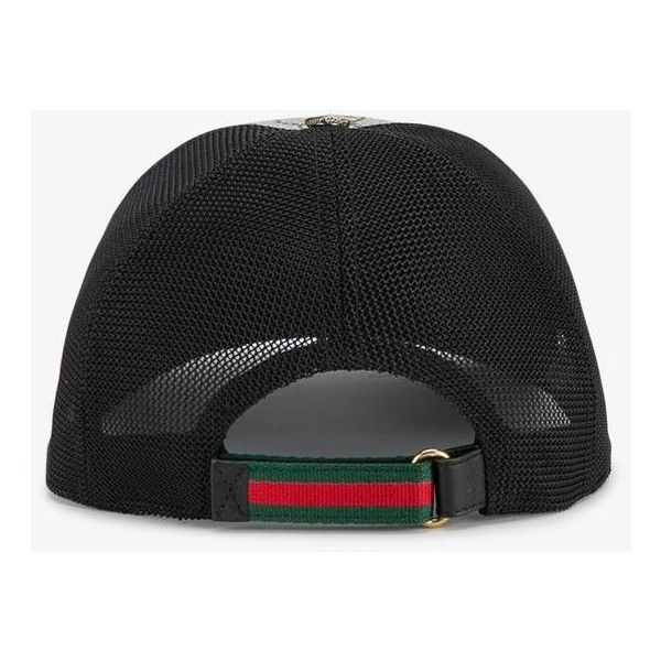 5230b7a4 Gucci Tigers Print Gg Supreme Baseball Cap ($285) ❤ liked on Polyvore  featuring men's fashion, men's accessories, men's hats, mens brown fedora  hat and ...