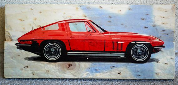 Classic Chevy Corvette Automobile Wall Art on by BubingaArtistry ...