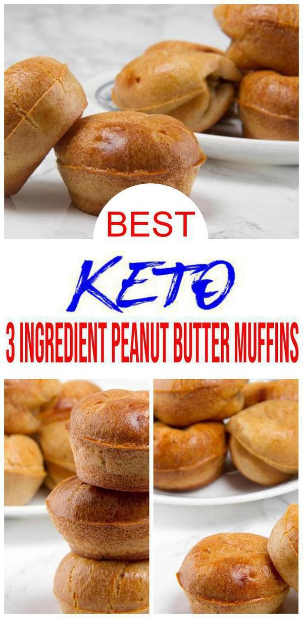 BEST Keto Muffins! Low Carb 3 Ingredient Peanut Butter Muffin Idea – Quick & Easy Flourless Ketogenic Diet Recipe – Completely Keto Friendly