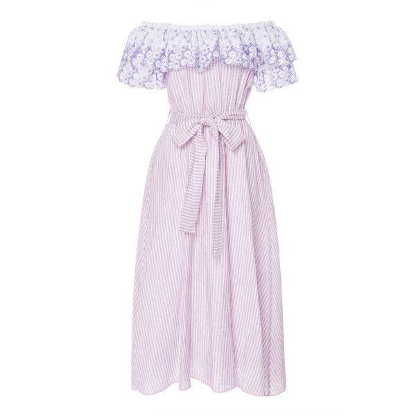 e096dea7d682 Gül Hürgel Off The Shoulder Belted Dress (£615) ❤ liked on Polyvore  featuring dresses
