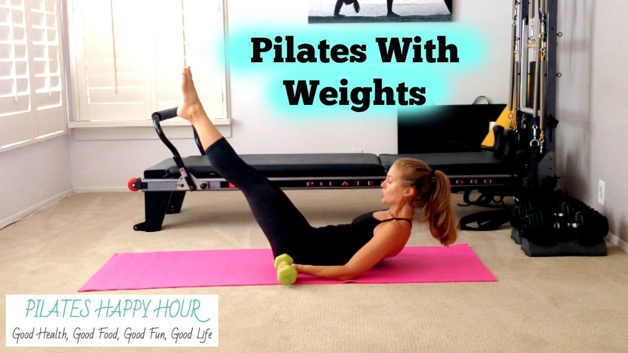 Pilates Workout With Weights - 15 Minute Advanced Pilates Workout for Muscle Tone