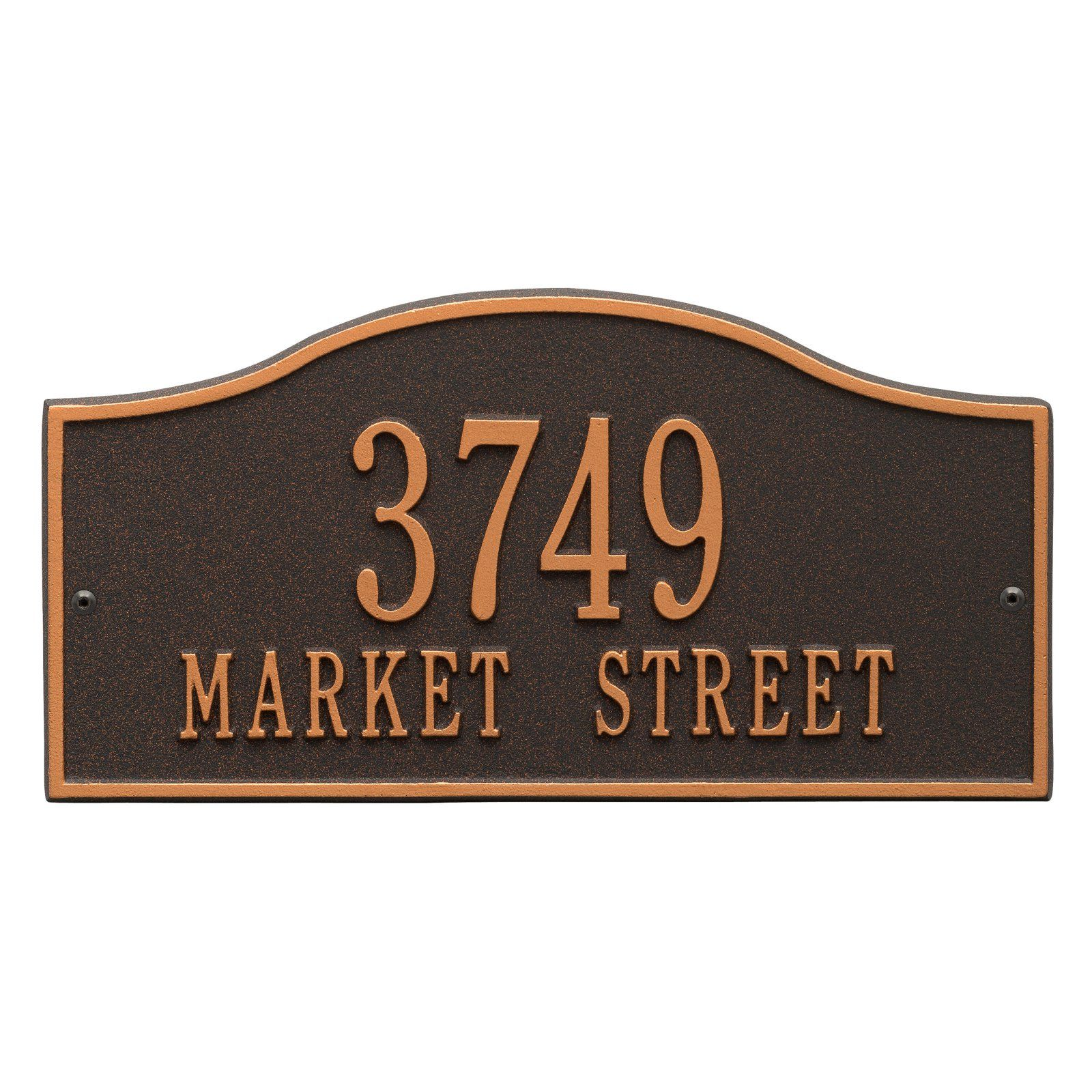 Whitehall Rolling Hills 2 Line Personalized Address Plaque Products In 2019 Address Plaque Whitehall Products Silver Walls