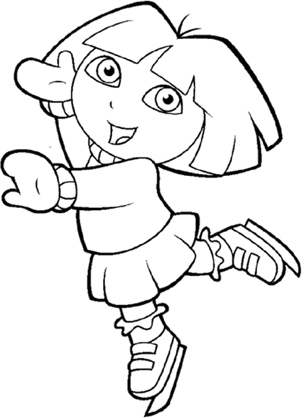 Dora The Explorer In The Snow Coloring Pages Dora Coloring Coloring Pages Online Coloring Pages