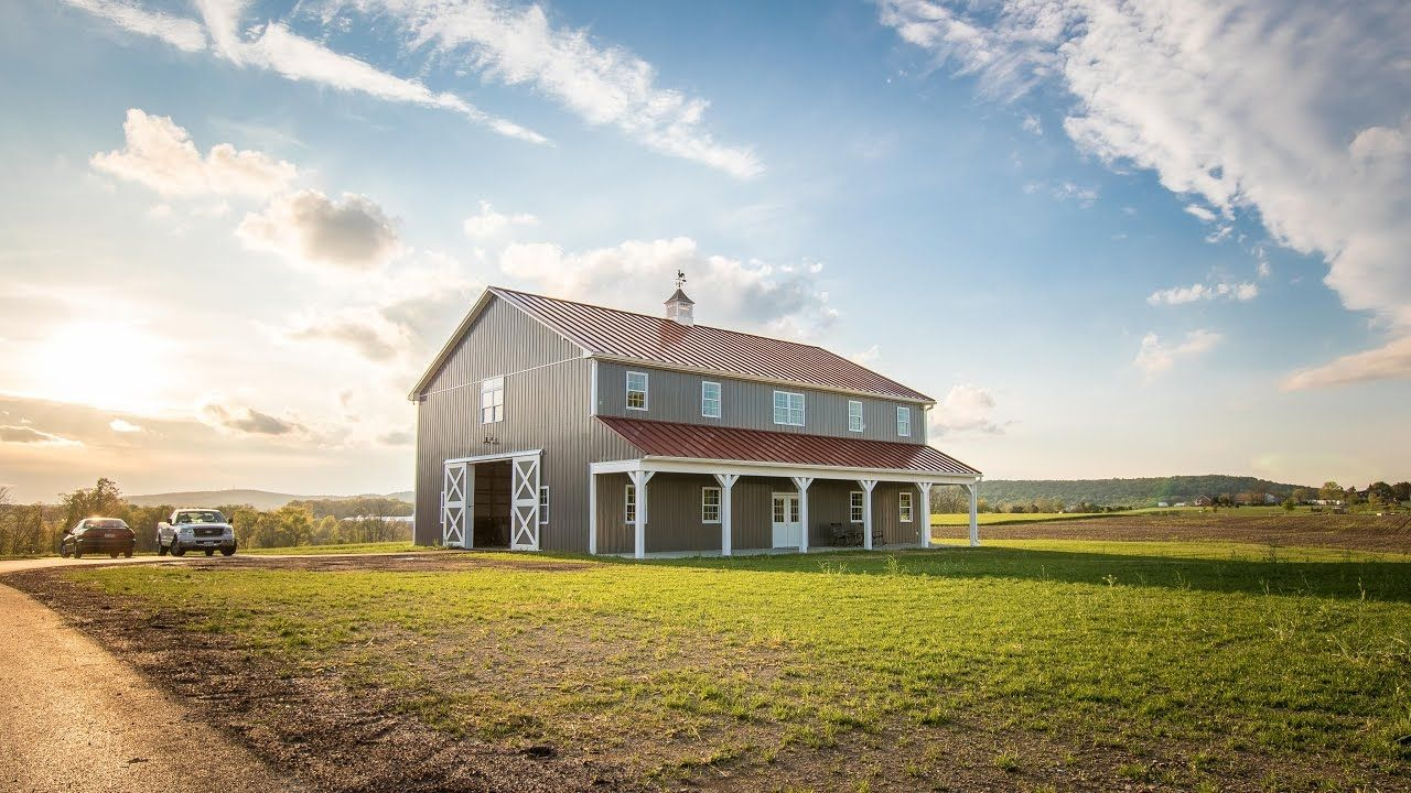 2 Story Pole Barn With Metal Roof A B Martin 4k Youtube