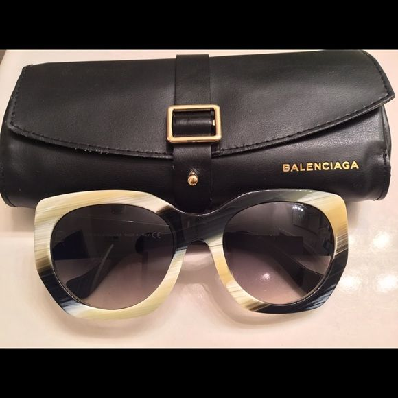 Balenciaga Multi Toned Sumglasses Balenciaga sunglasses , payment plans are accepted. New never been worn before. Black siding with multi colored frame. Balenciaga Accessories Sunglasses