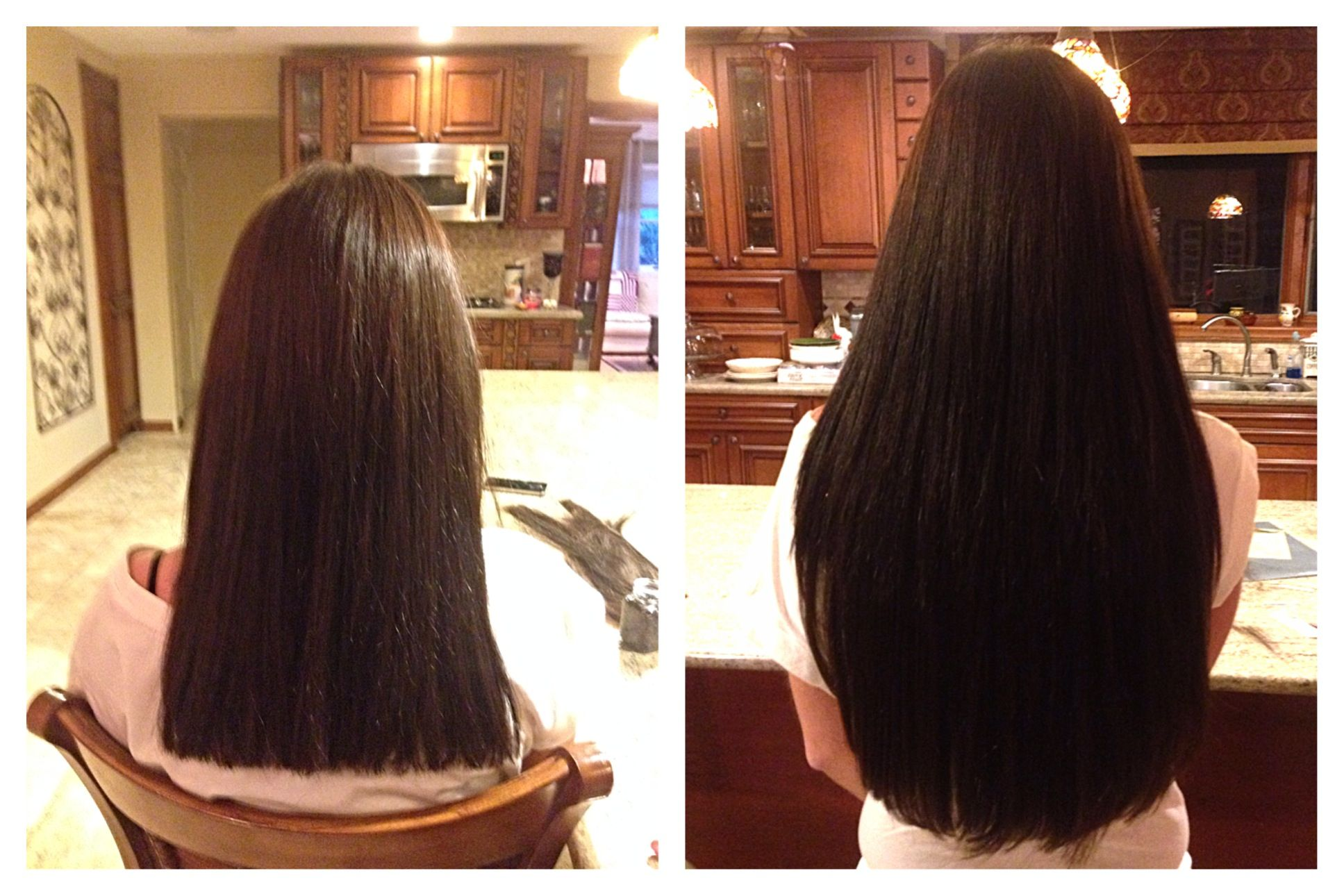 Microlink Hair Extensions For Length And Volume In Darkest Brown