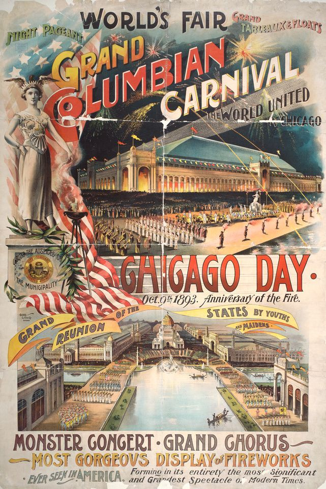 broadside for chicago day at the world s columbian exposition