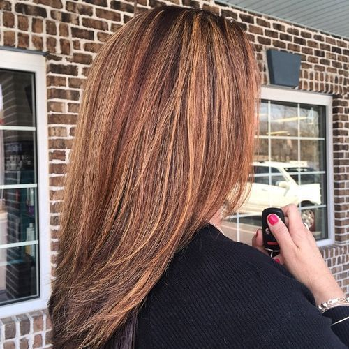 60 Looks With Caramel Highlights On Brown And Dark Brown Hair Brown Hair With Caramel Highlights Hair Color Auburn Hair Highlights