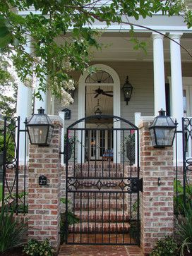 Traditional Home Garden Gate Design Ideas, Pictures ... on Gate Color Ideas  id=30889