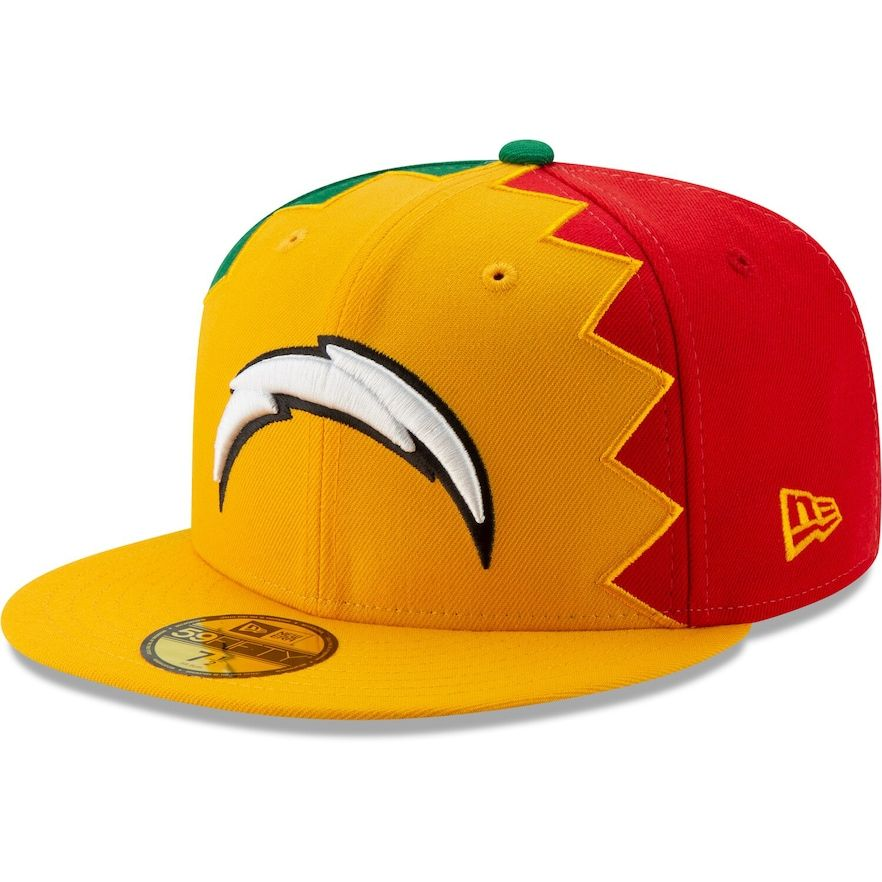 Los Angeles Chargers New Era 2019 Nfl Draft Spotlight 59fifty Fitted Hat Gold In 2020 Los Angeles Chargers Fitted Hats New Era