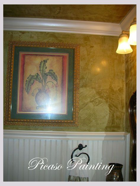 Pin By Venetian Plaster Art On Venetian Plaster On The: Images Of Venetian Plaster Powder Rooms