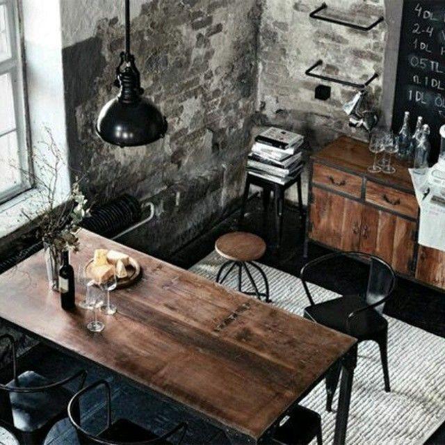 interior #interiordesign #industrial #rustik #loft #decoration by ...