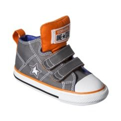 Toddler Converse® One Star® Mid Top Sneaker - Gray/Orange