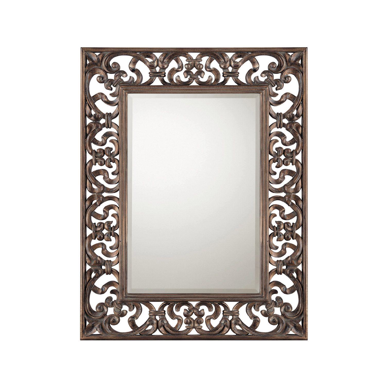 Old World Bronze Filigree With Beveled Mirror 39 5 W X 51 75 H Mirror Decor Mirror Wall Mirror