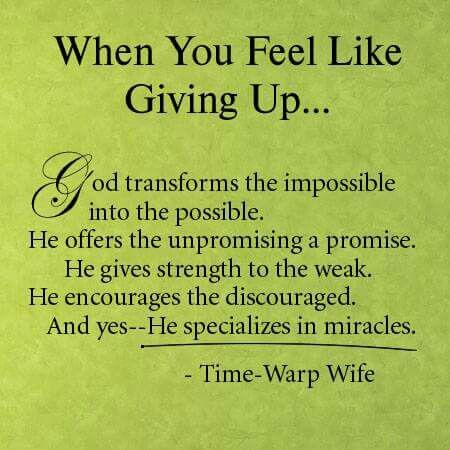 GOD transforms the impossible into the possible....