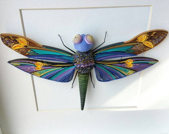 Quilling Wall Art Dragonfly Quilled Paper Art Home Design ...