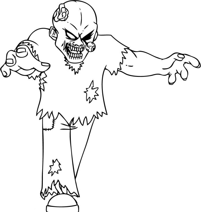 terrible zombie coloring pages - Zombie Coloring Pages Free