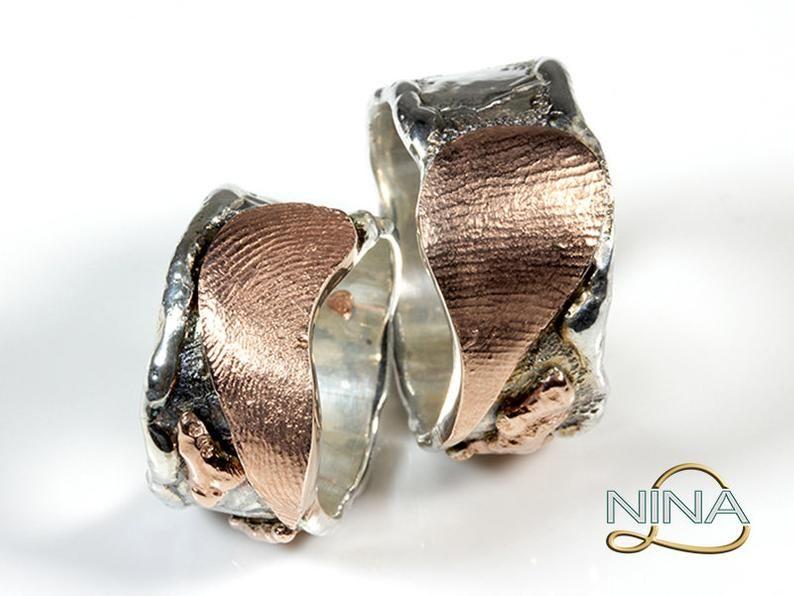 Pin auf Rustic wedding rings