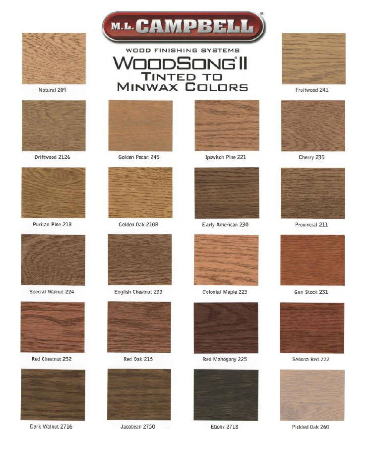 Ml Campbell Woodsong Ii Spray And Wipe Stain Showcase