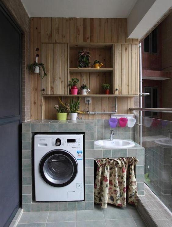 Donde poner la lavadora en casa | Pequeñas habitaciones de ...