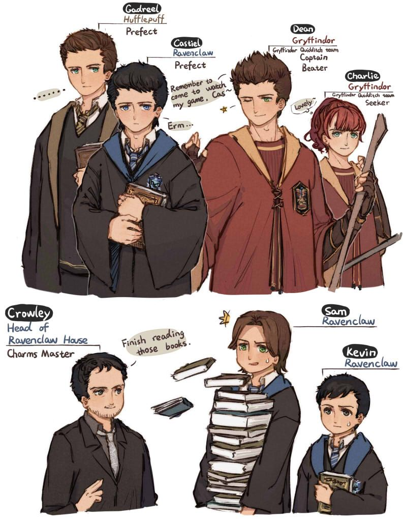 Casburger - Supernatural x Harry Potter SO AWESOME! :D