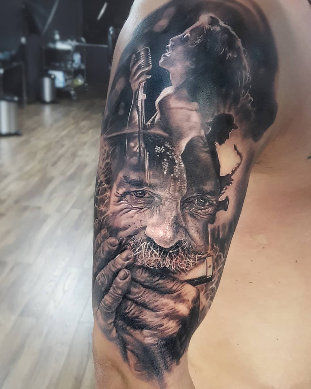 "@inkedtime_vk on Instagram: ""Artist: @elmagotattoo  . . . #tattooworld #tattooartwork #neotraditionaltattoos #tattoosp #tattooinkspiration #tattoorealistic #tattoounity…"""