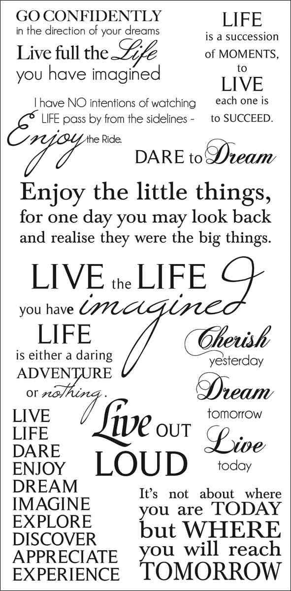 Quotes On Life Album: Live Rub-On Quotes 471417