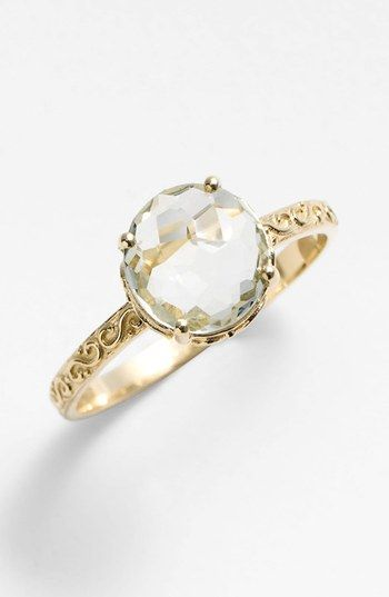 KALAN by Suzanne Kalan Round Stone Filigree Ring available at #Nordstrom