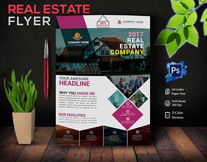 """Check out new work on my @Behance portfolio: """"Real Estate Flyer ..."""