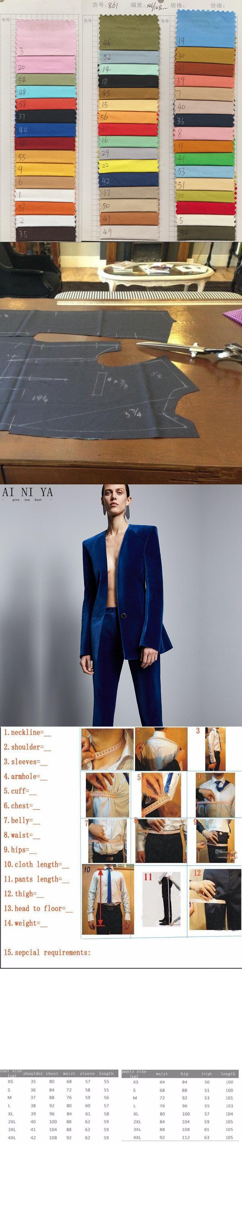 2c2f1e0df769 Royal Blue Velvet Jacket+Pants Formal Elegant Pants Suit Womens Business  Suits Slim Fit Female