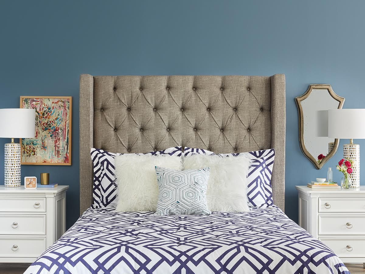 Upholstered bed decor image by Eddie McCain on For the