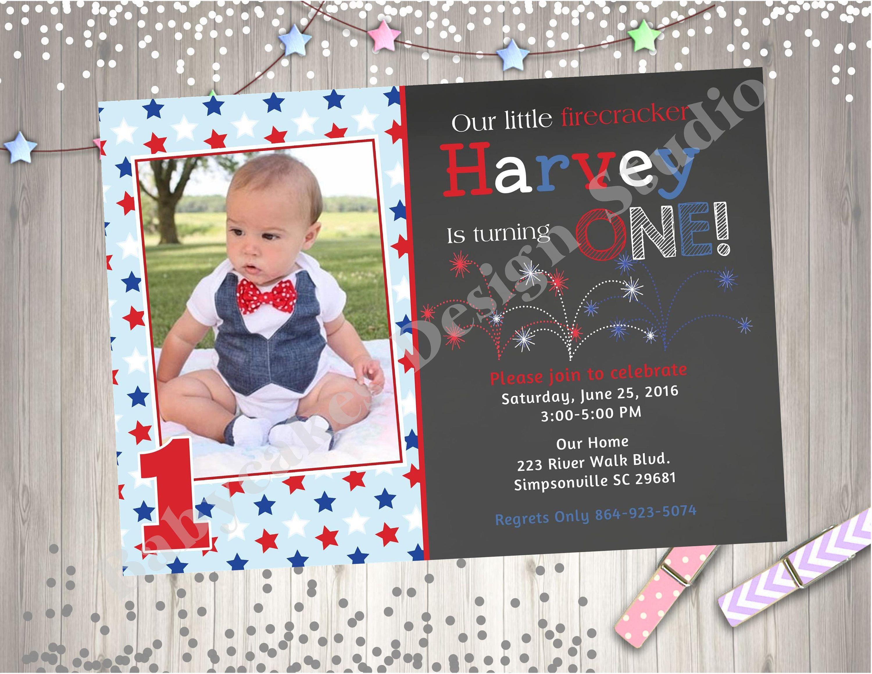 4th of july birthday invitation invite july 4th birthday invitation