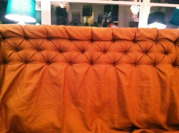 diy bett kopfteil die kn pfe der reihen nach ann hen diy pinterest diy bett kopfteile. Black Bedroom Furniture Sets. Home Design Ideas