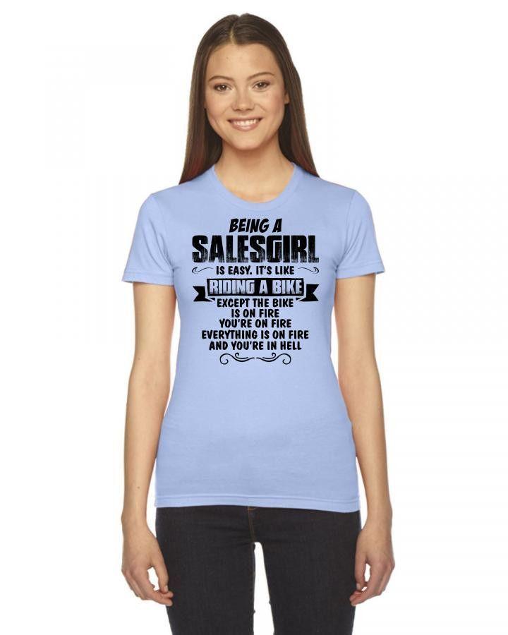 being a salesgirl copy Women's Tee