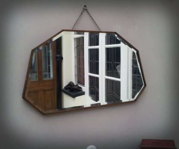 1930 39 S Art Deco Wall Mirror By Arthouseattic On Etsy