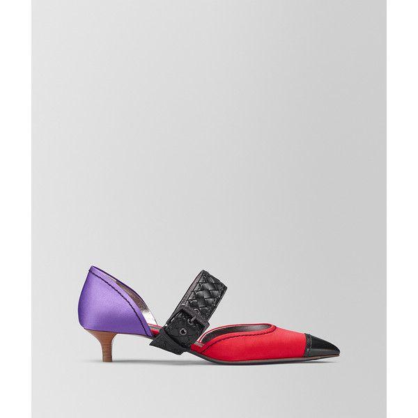 Red and Purple Satin Kitten Heels Bottega Veneta bhtfglx