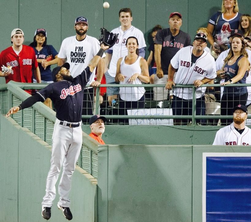 Cleveland Indians Austin Jackson Robs A Home Run From Red Sox Hanley Ramirez Cleveland Indians Cleveland Indians Baseball Cleveland