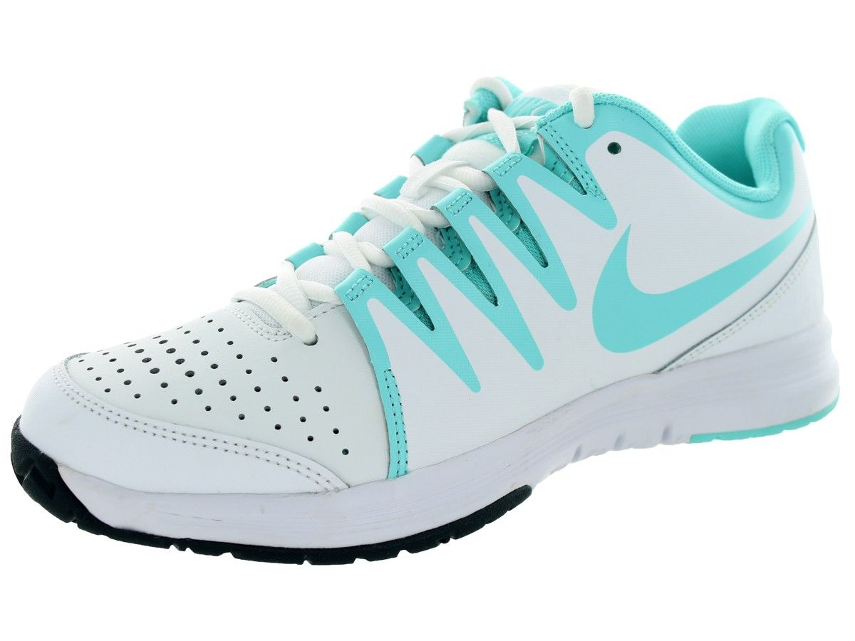 Nike Women\u0027s Vapor Court Tennis Shoe White/Light Aqua/Clssc CharclItem #  631713_104