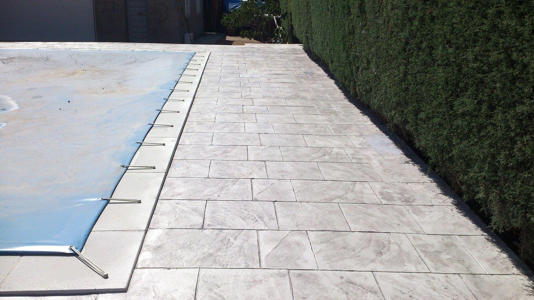 Terrassa Amb Pèrgola Pavimento Impreso Hormigon Impreso Suelos De Exterior