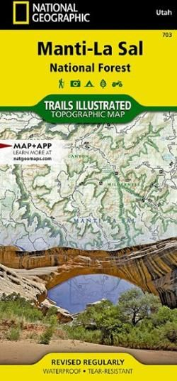 This National Geographic Trails Illustrated folded map offers comprehensive coverage of Utah's Manti La Sal National Forest area.