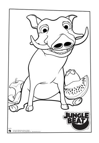 Free Colouring Pages Ready To Print From The Jungle Beat Website Free Print And Colour Warthog Get All Your Free Coloring Pages Coloring Pages Free Coloring