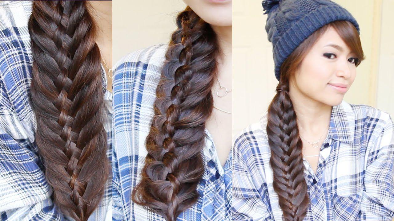 Easy Woven Fishtail Braid Hairstyle | Hair Tutorial | Lena ...