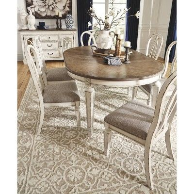 Set Of 2 Realyn Dining Upholstered Side Chair Chipped White Signature Design By Ashley In 2020 Dining Room Table Decor Dining Room Chairs Dinning Room Tables