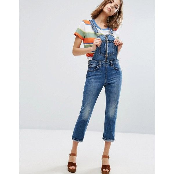 943b990cd71 Levi s Orange Tab Zip Front Denim Dungarees (1.269.970 IDR) ❤ liked on Polyvore  featuring jumpsuits
