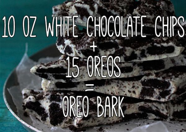 "Take cookies and cream to a new level with <a href=""http://www.bakersroyale.com/fast-and-easy/cookies-and-cream-oreo-bark/"" target=""_blank"">this recipe</a>."