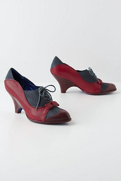 Charina Wingtip Heels  #anthropologie
