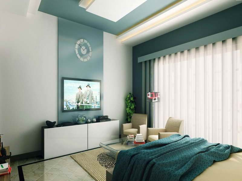 Color combo turquoise and brown bedroom ideas best paint for Interior design bedroom blue white